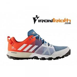 Adidas Kanadia 8 TR - Zapatillas Trail Azul y Naranja
